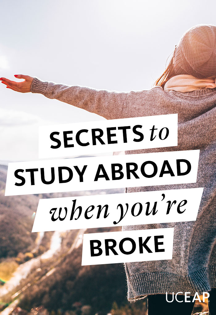 Secrets to study abroad when you're broke