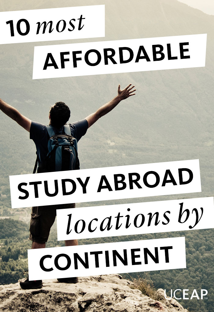 10 most affordable study abroad locations by continent