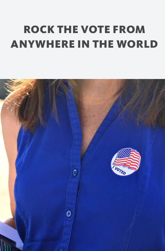 In case you were not aware, you can vote in the upcoming US election from abroad! Awesome, right? Here are a few simple steps to register and vote.