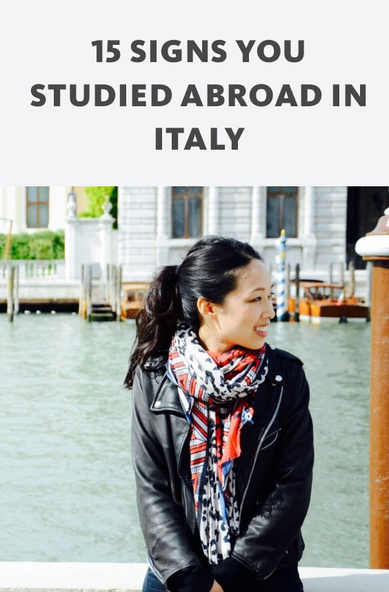 If you get that gelato is a food group, own one too many scarves and reminisce daily about the time you studied abroad in Italy, this is for you.