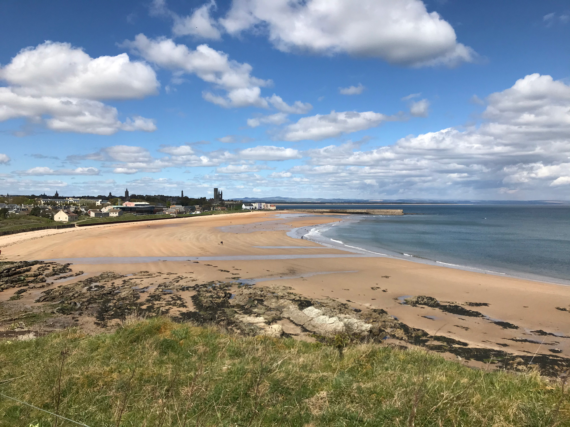 View of beach against sky in Saint Andrews, United Kingdom