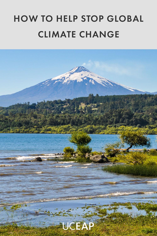 View of the smoking Villarrica Volcano, Villarrica, Chile