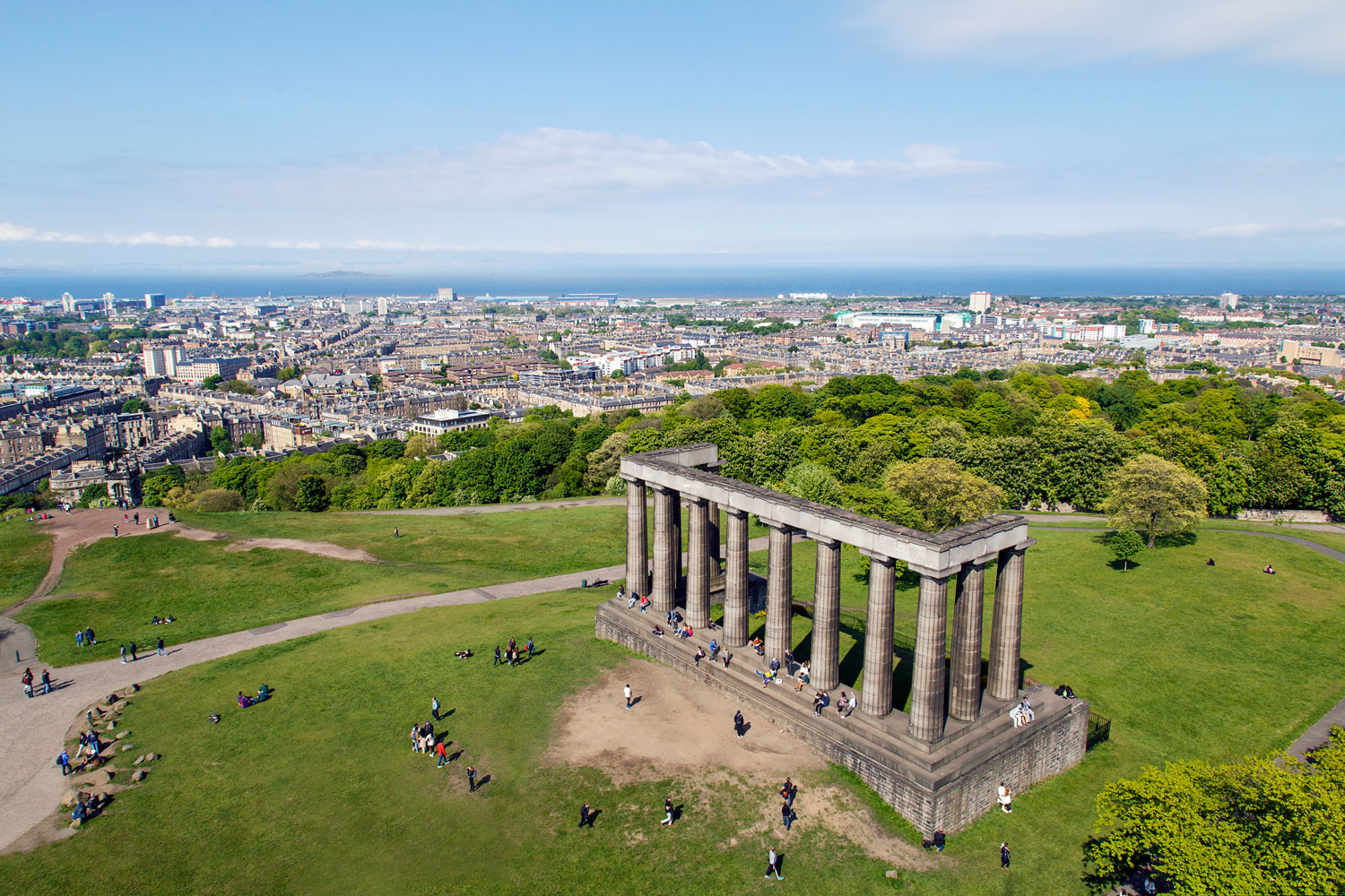 Bird's eye view of Calton Hill