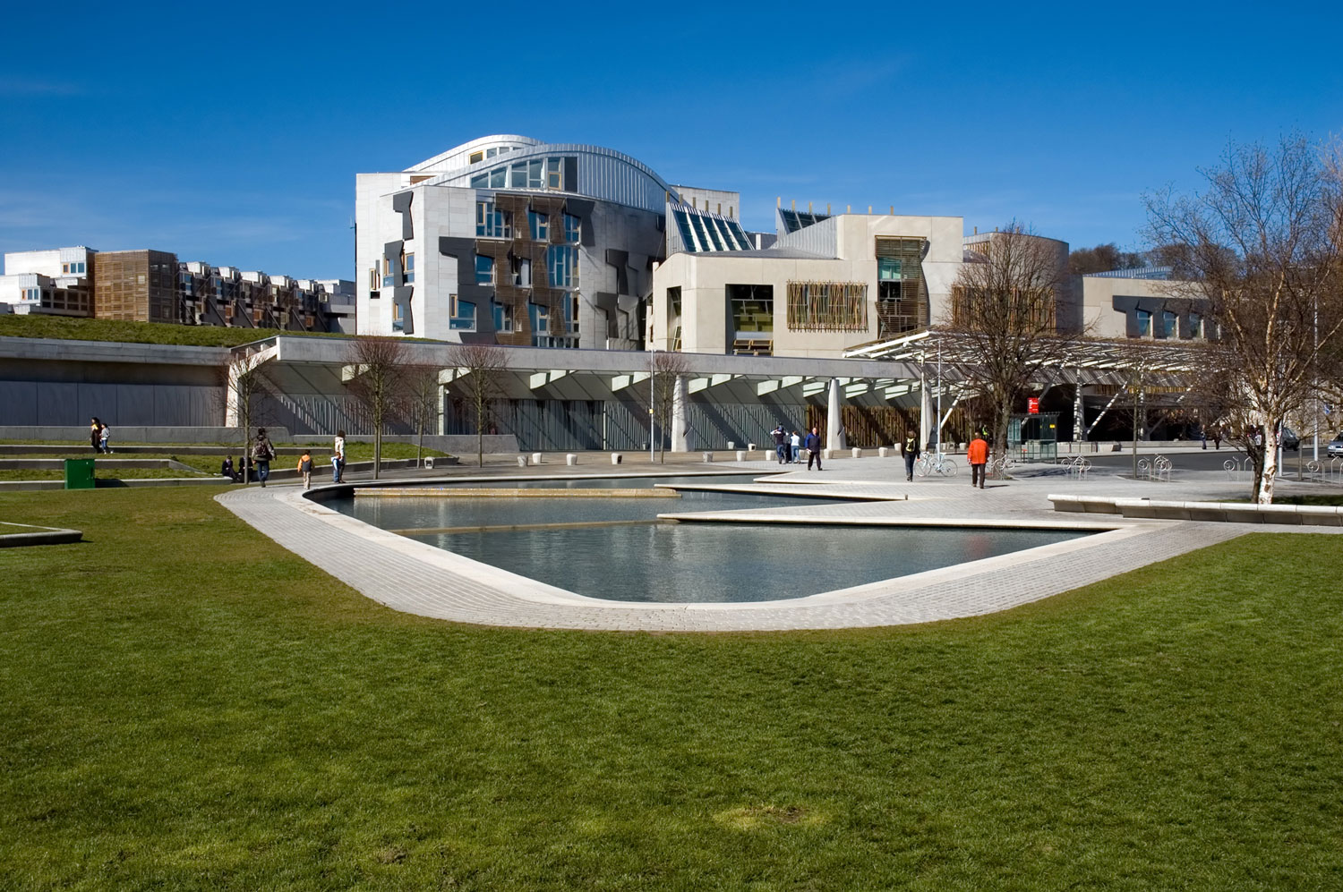 Exterior of Scottish Parliament