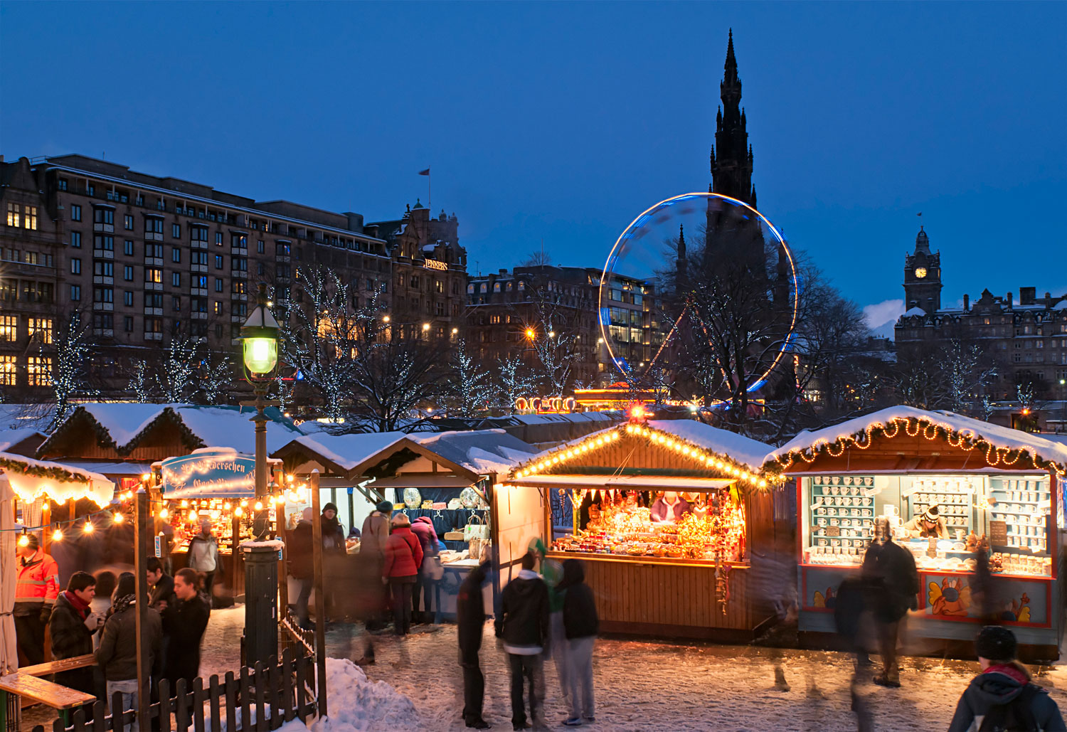 Photo of Princes Street Gardens during their Christmas market