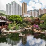 Pond and Bridge at Nan Lian Garden, Hong Kong