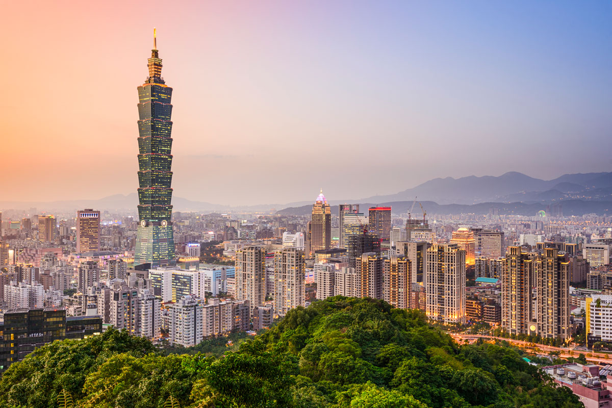 Photo of Taiwan skyline