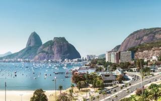Rio de Janiero ocean and cityscape