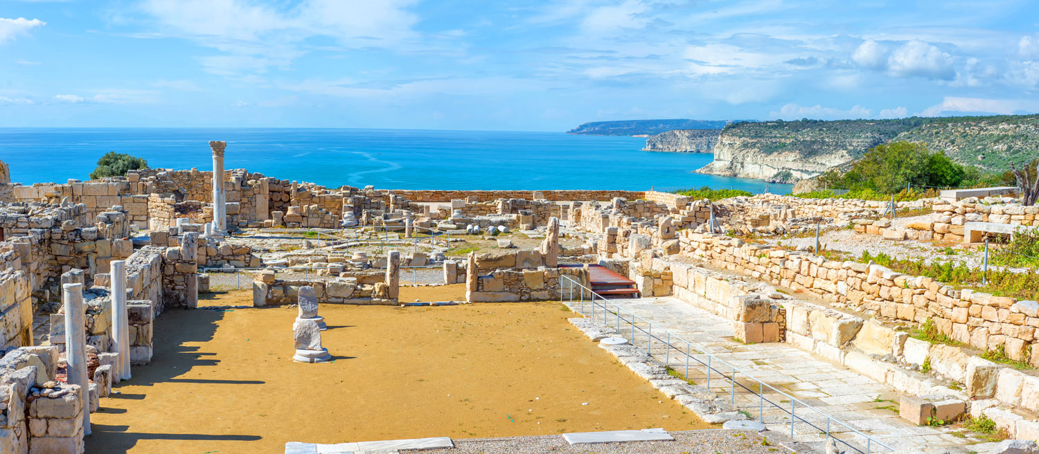 Panoramic view of Kourion archaeological site
