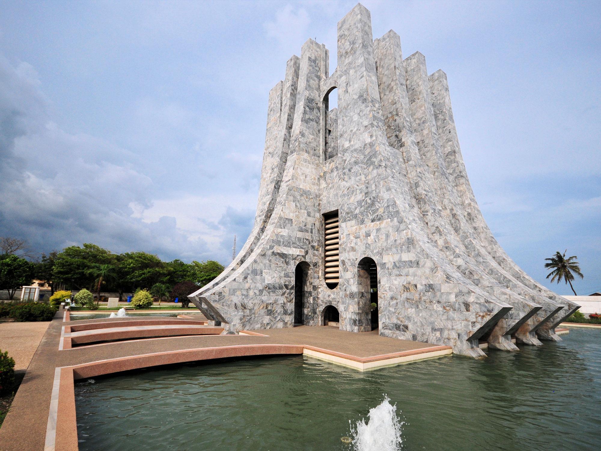 Kwame Nkrumah Park in Accra, Ghana.