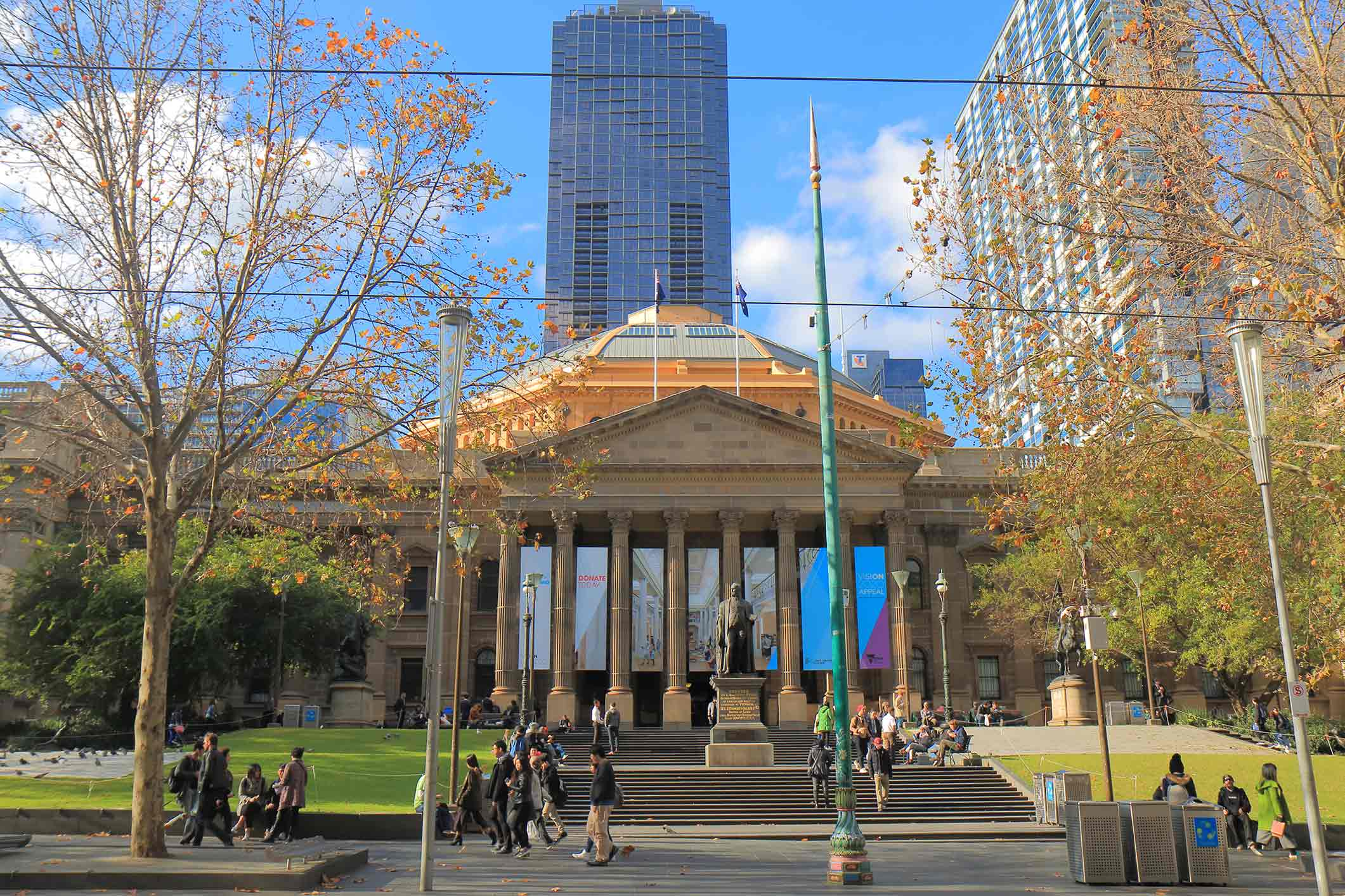 Historical State Library in Melbourne Australia
