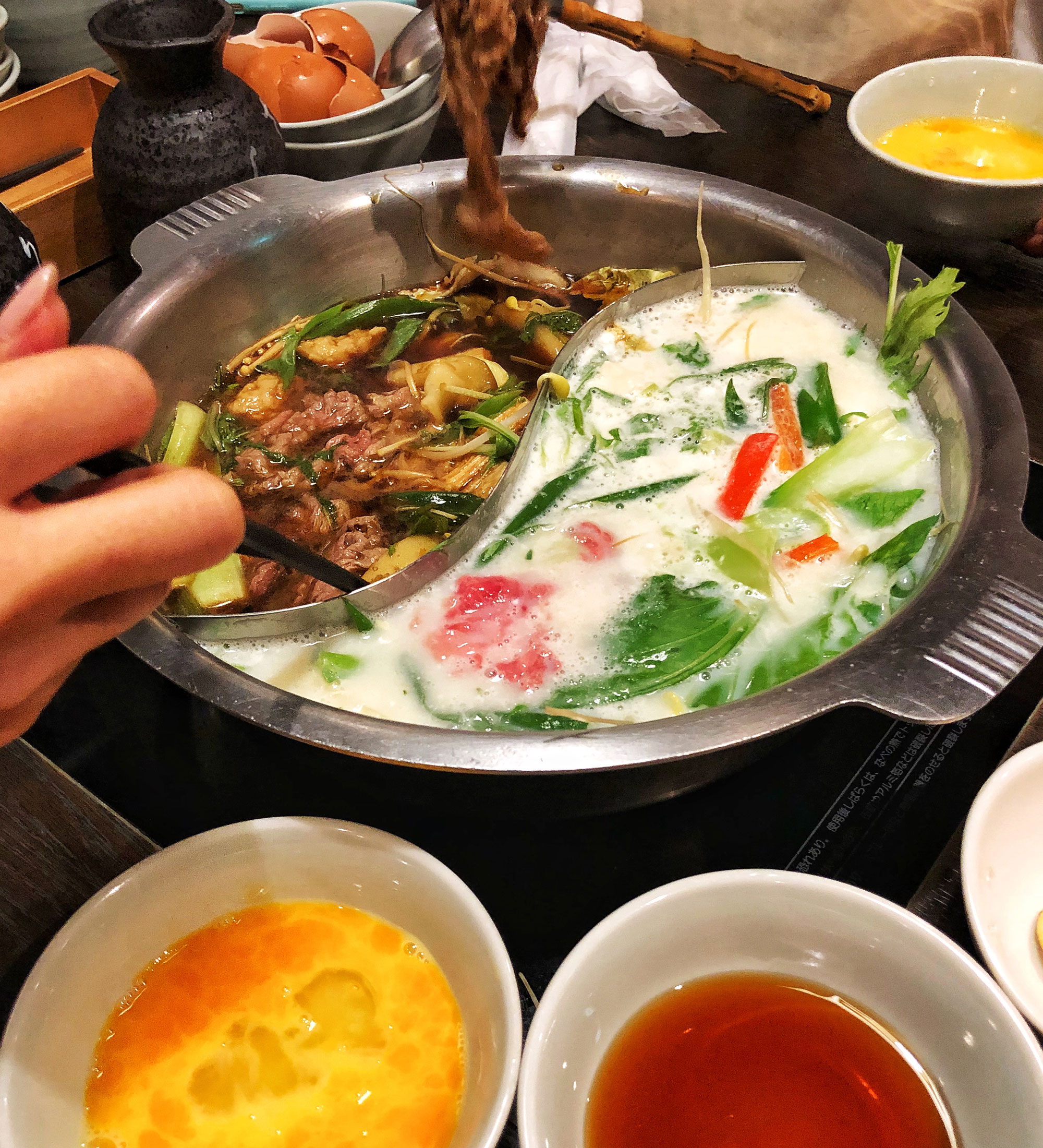 Image of food in a hot pot.