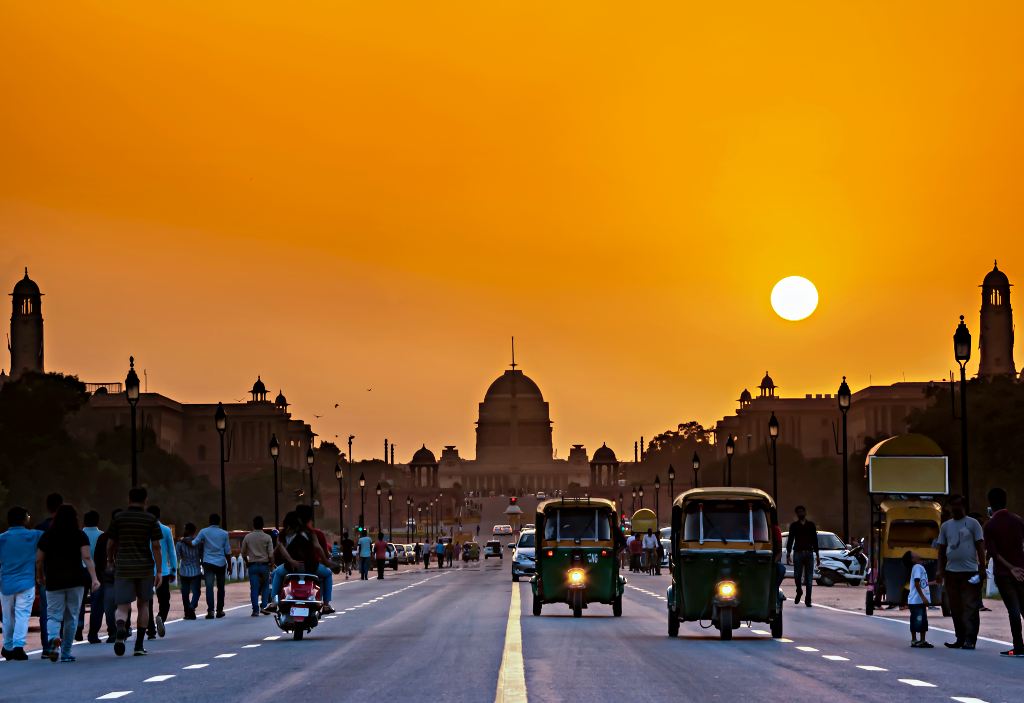 Sunset at Rashtrapati Bhavan, India