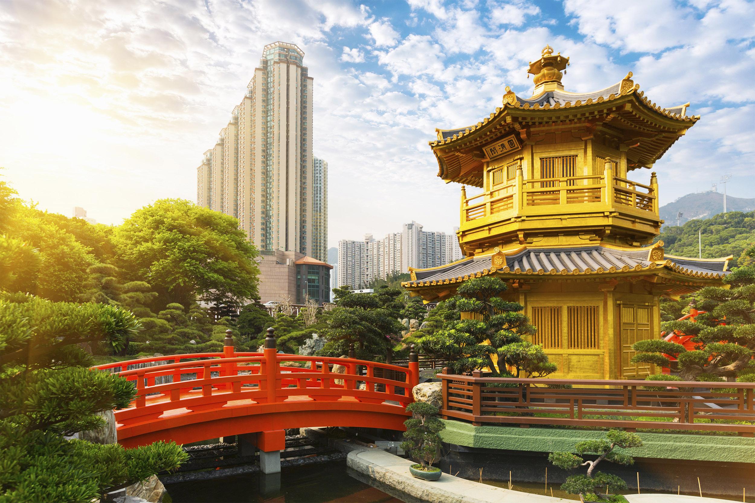 Nan Lian Garden in Hong Kong, China