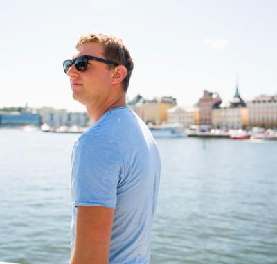 Male exploring Stockholm, Sweden