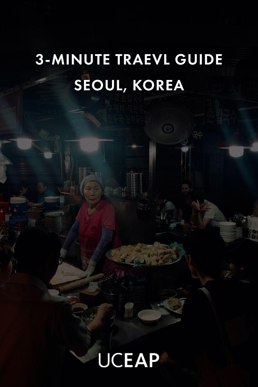 Woman serving food at Gwanjang Market