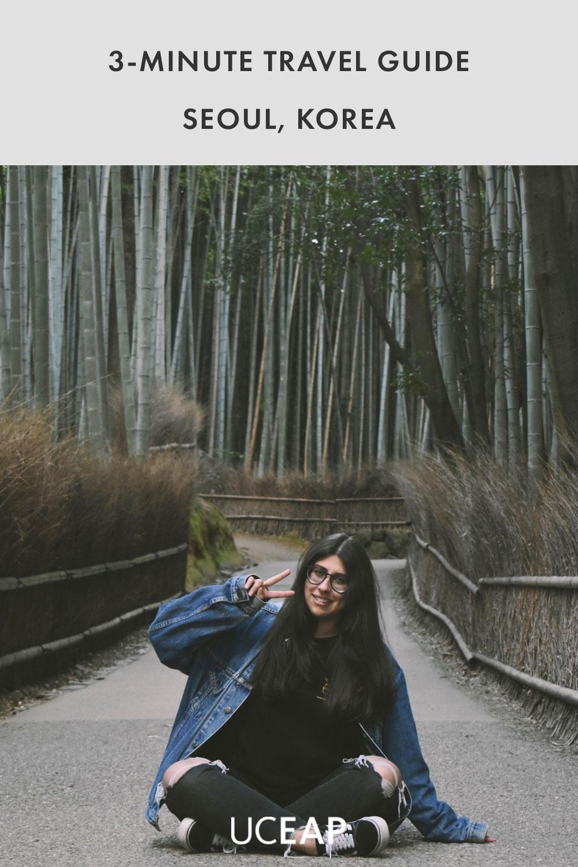 Gabriela Quiros in bamboo forest in Arashiyama