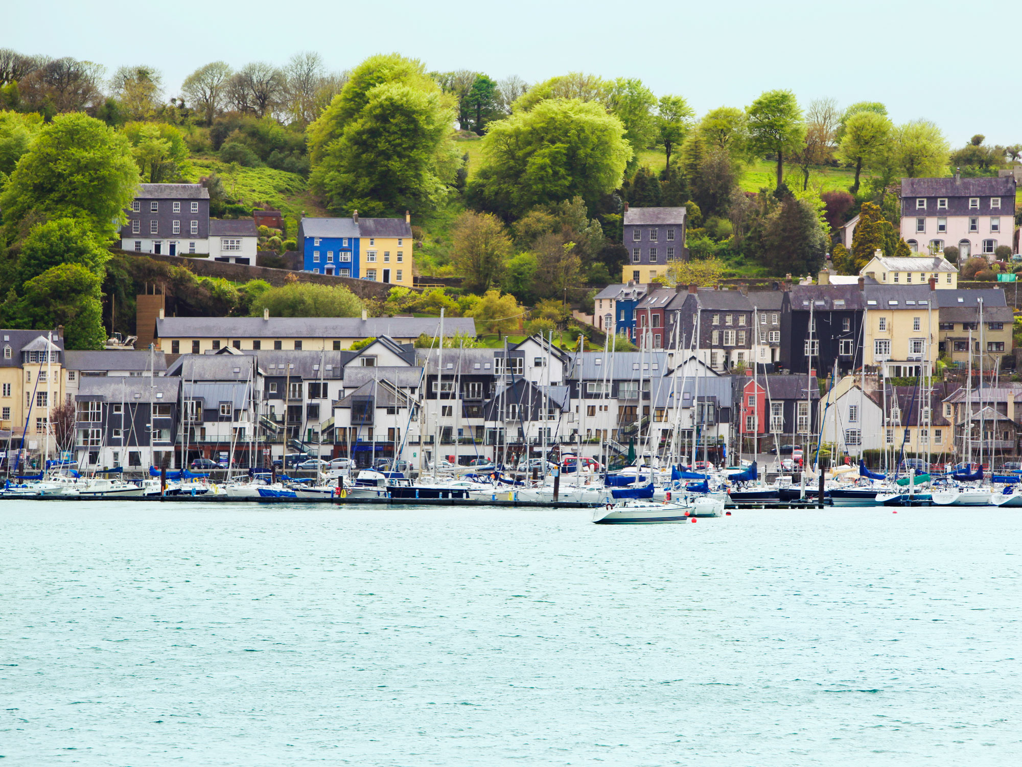 Harbor in Cork, Ireland.