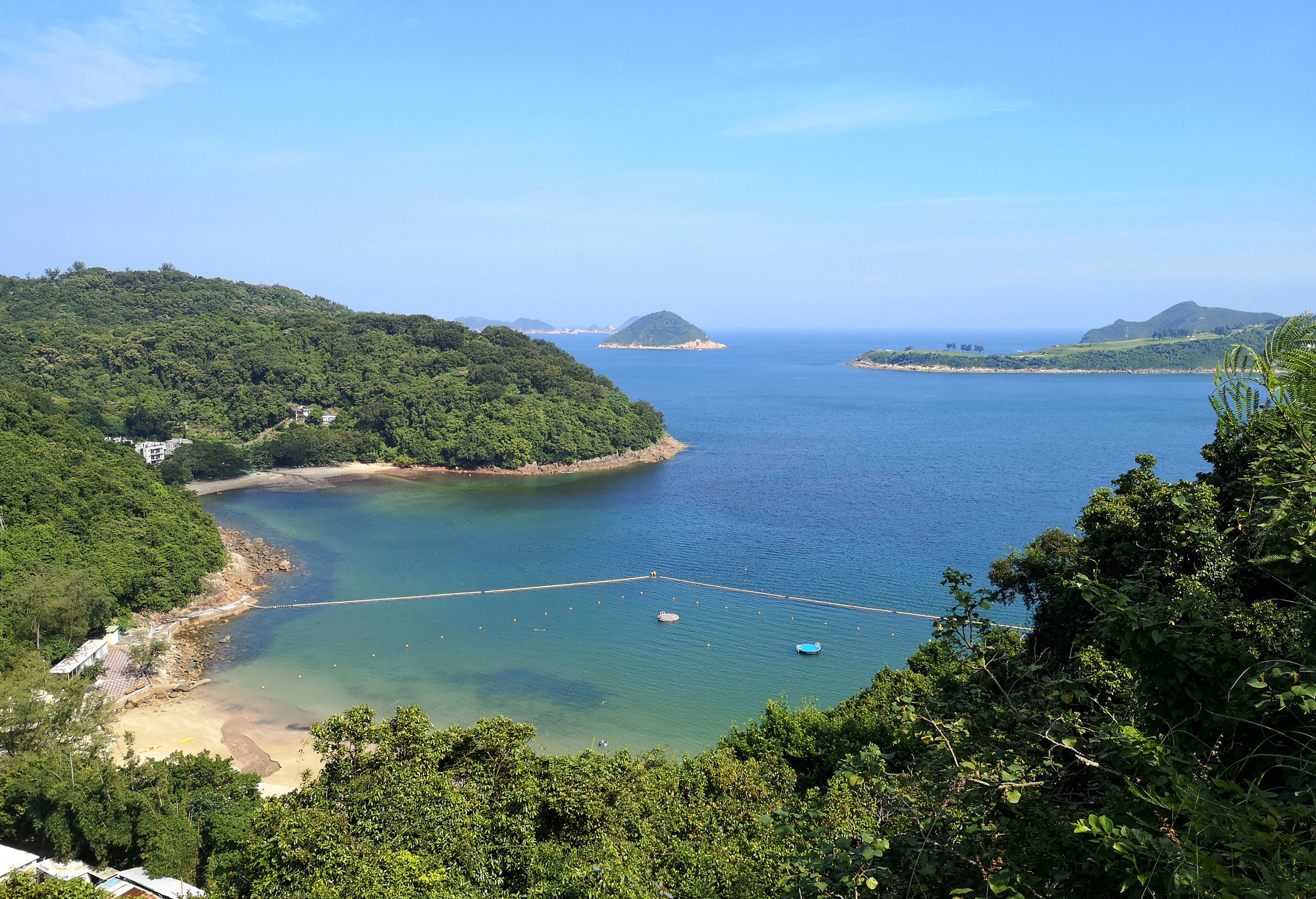 Clear Water Bay beach panorama, Hong Kong