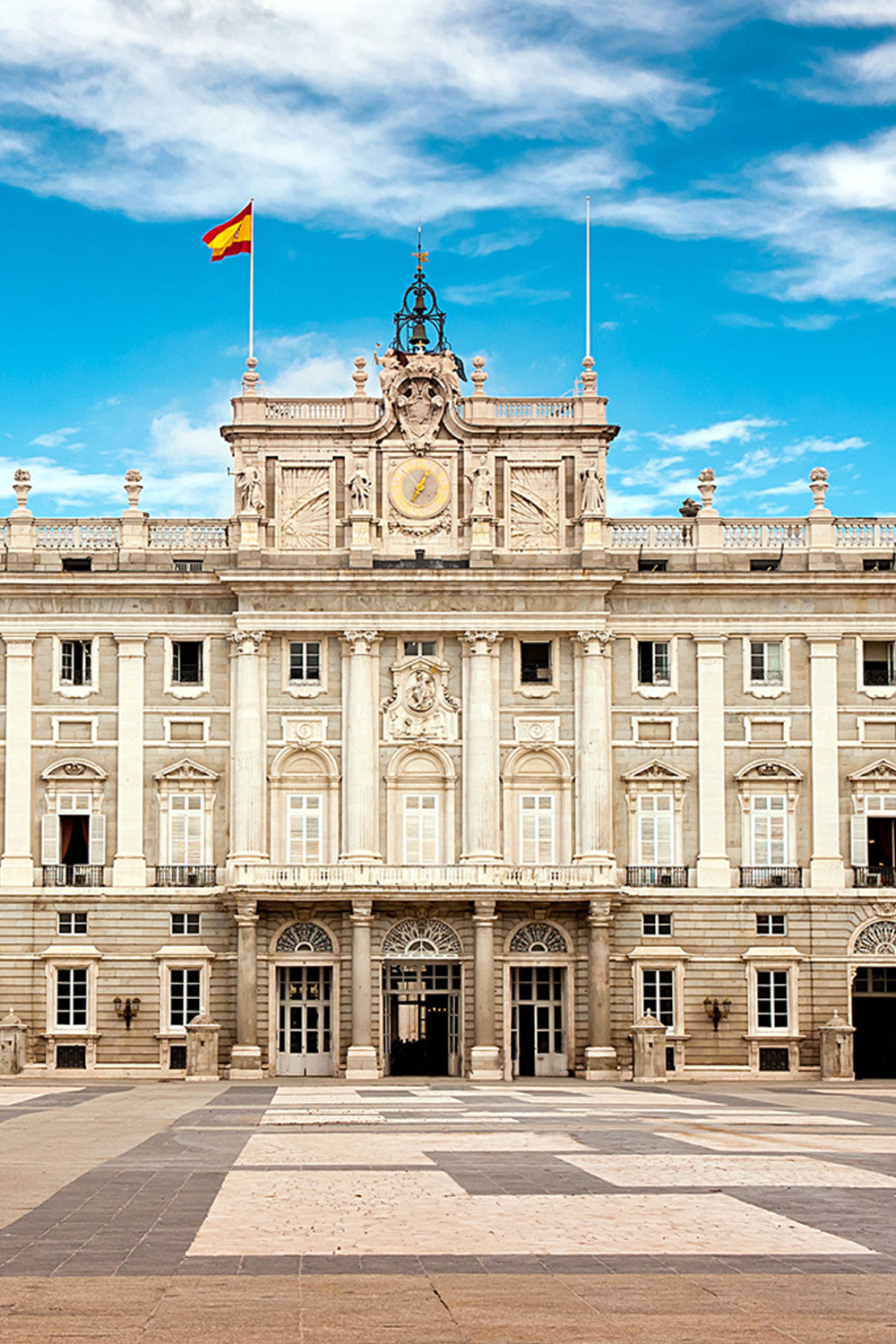Royal Palace of Madrid in Madrid Spain