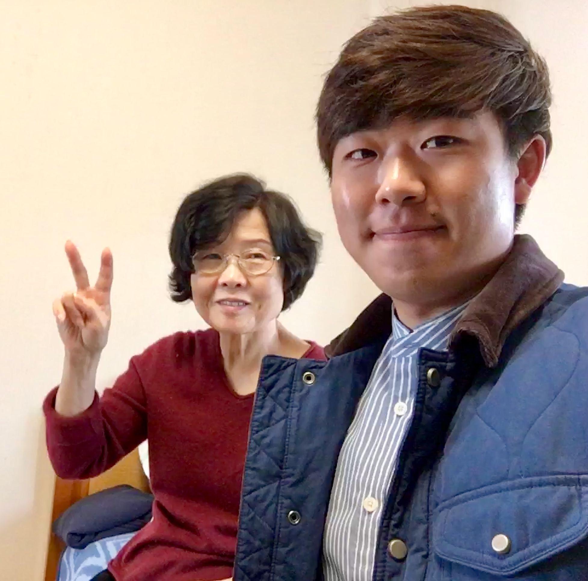 Brandon Yoon with his Korean grandmother.