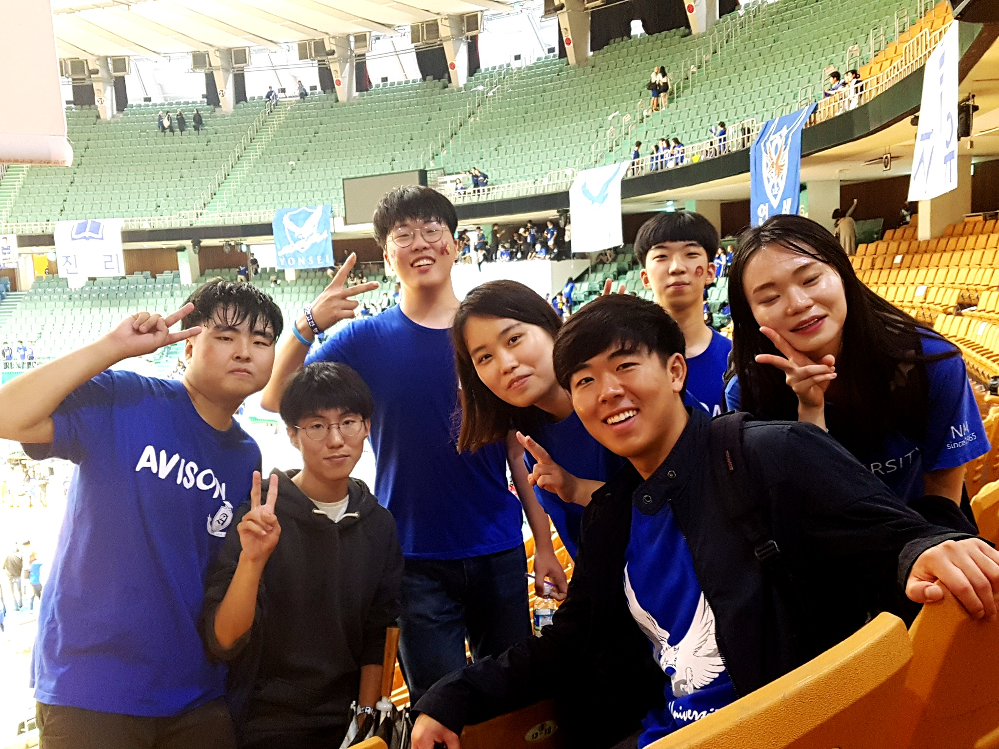 Brandon Yoon attends a sports festival with local Korean students.
