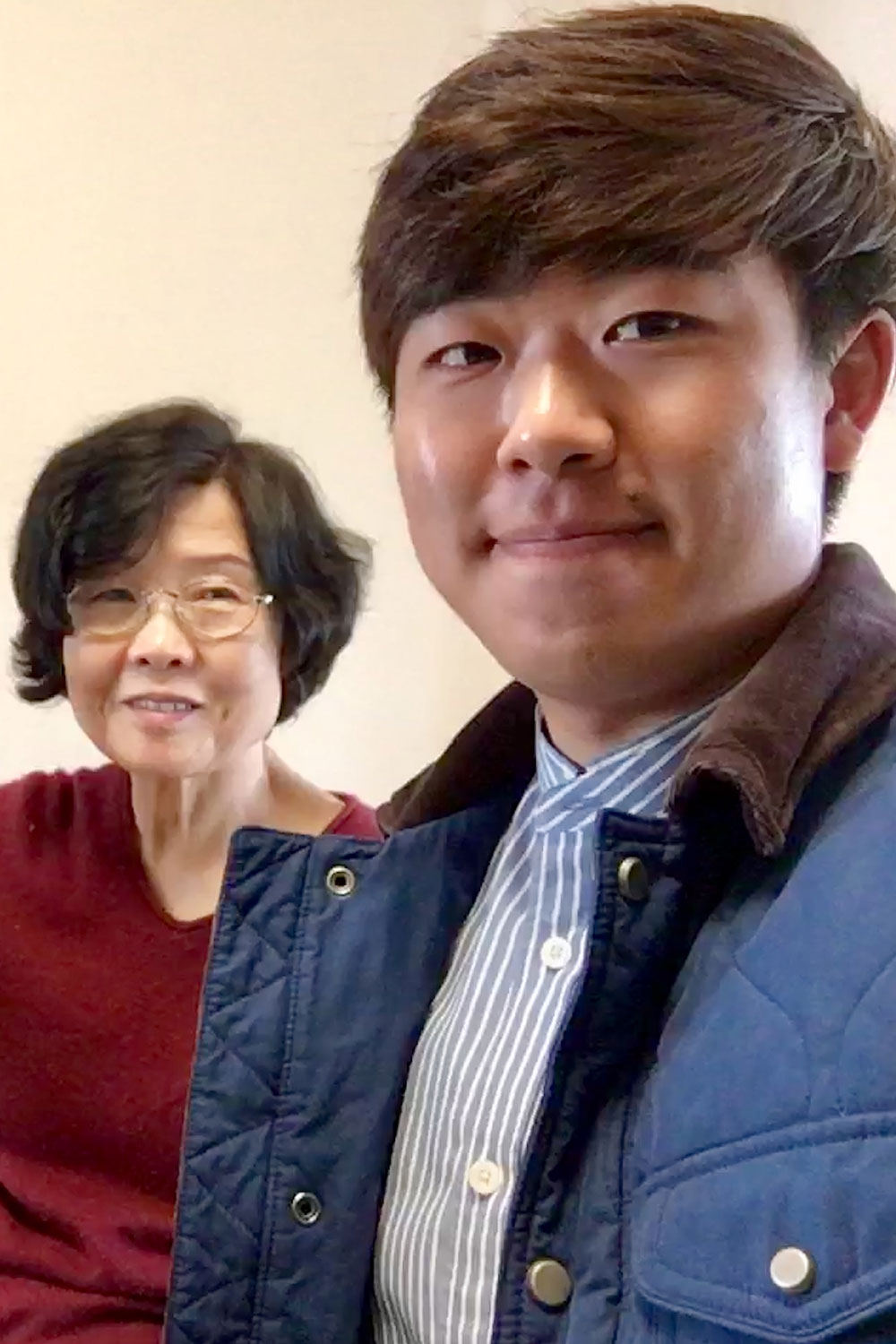 Brandon Yoon with his grandmother.