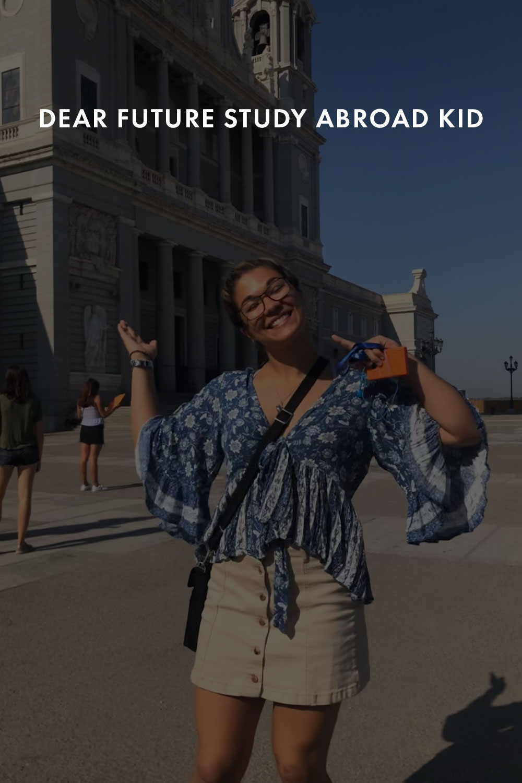 Elena Mateus smiles for the camera as she explore the city.